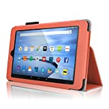 Case for Fire HD 10 - Elsse Premium Folio Case with Stand for the NEW Fire HD 10, 10 Display (Sept, 2015 Release) - Orange