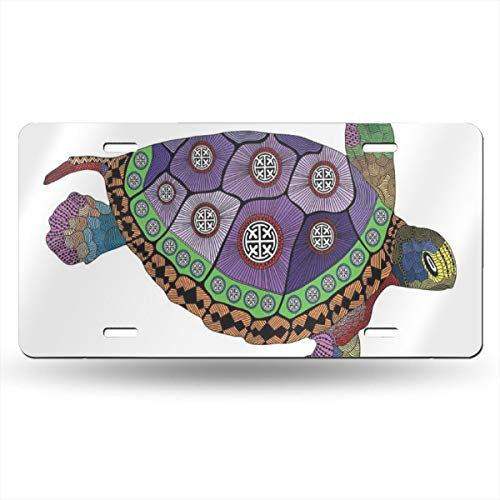 AXGOGO Sea Turtle Personalized Custom Name License Plate Tag Custom Name State Your Name Your State - Choose from All 50 States, 6