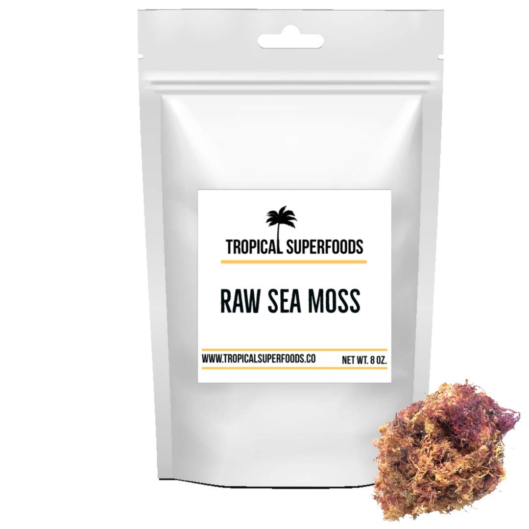 Tropical Superfoods Wholesale | Bulk 100 % Wildcrafted Gold & Purple Irish Sea Moss 1lb | Irish Moss | All Natural | Premium Quality | Sun dried | 92 Minerals- Gold & Purple (1lbs) 16oz