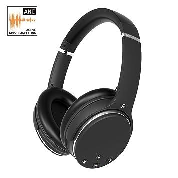 Auriculares inalámbricos Bluetooth AXCEED Auriculares con cancelación de ruido activos sobre el oído con micrófono 16-20 horas de reproducción prolongada ...