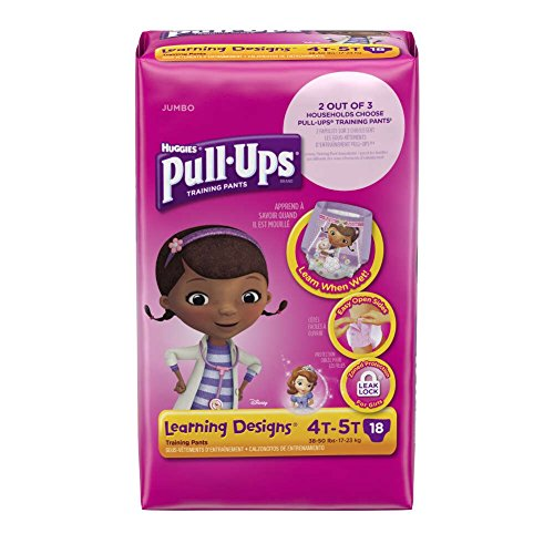 Huggies Pull-Ups Training Pants with Learning Designs, Girls 4T-5T, 38-50 lbs, 41247 (Case of 72) by Kimberly-Clark