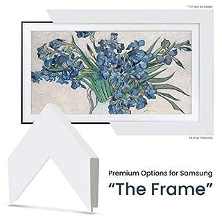 """Deco TV Frames - Gloss White Frame Custom for Samsung The Frame TV (43"""")"""