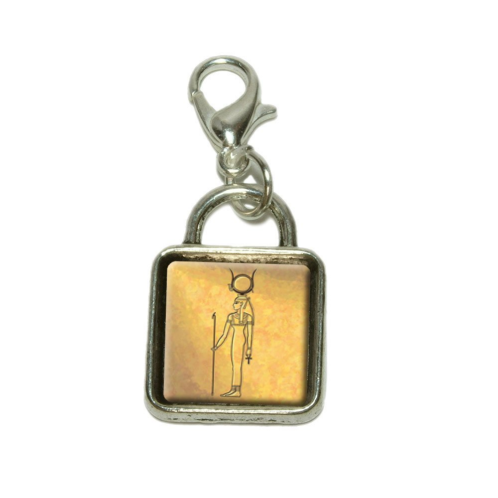 Made On Terra Anubis Ancient Egyptian God Dangling Bracelet Pendant Square Charm