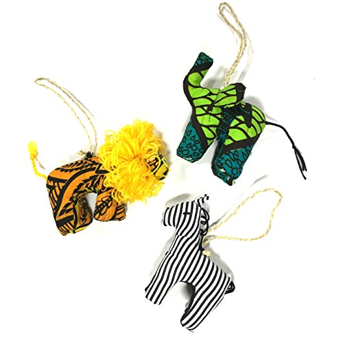 Stuffed Animal Fair Trade Ornament Trio Set