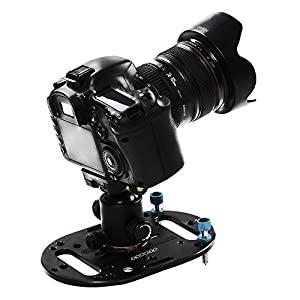 DECADE mini tripod base,Lightweight Universal Mounting Plate Low angle tripod for DSLR Canon Nikon Olympus Mirrorless Sony a7 a9 and Fuji