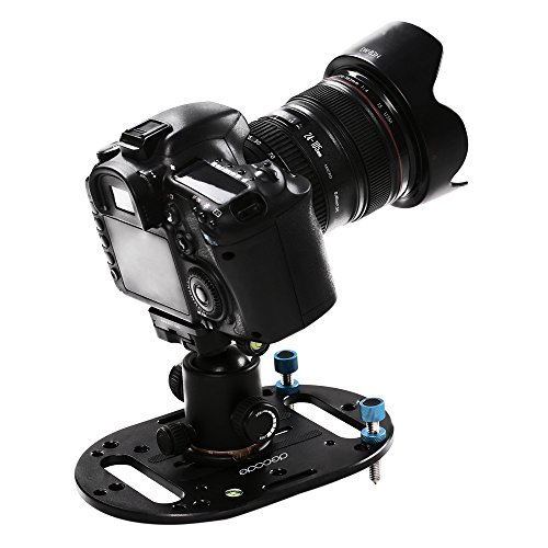 DECADE Mini Tripod Base,Lightweight Universal Mounting Plate Low Angle Tripod Compatible for DSLR Canon Nikon Olympus Mirrorless