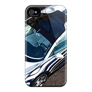Tpu Case Skin Protector For Iphone 4/4s Bugatti Veyron Grand Sport Lor Blanc 2011 With Nice Appearance
