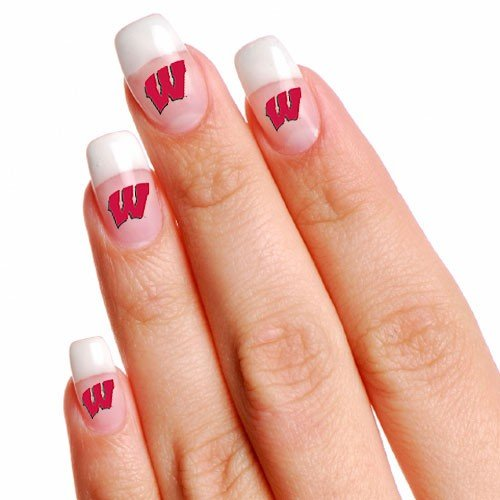 (NCAA Wisconsin Badgers 4-Pack Temporary Nail Tattoos)