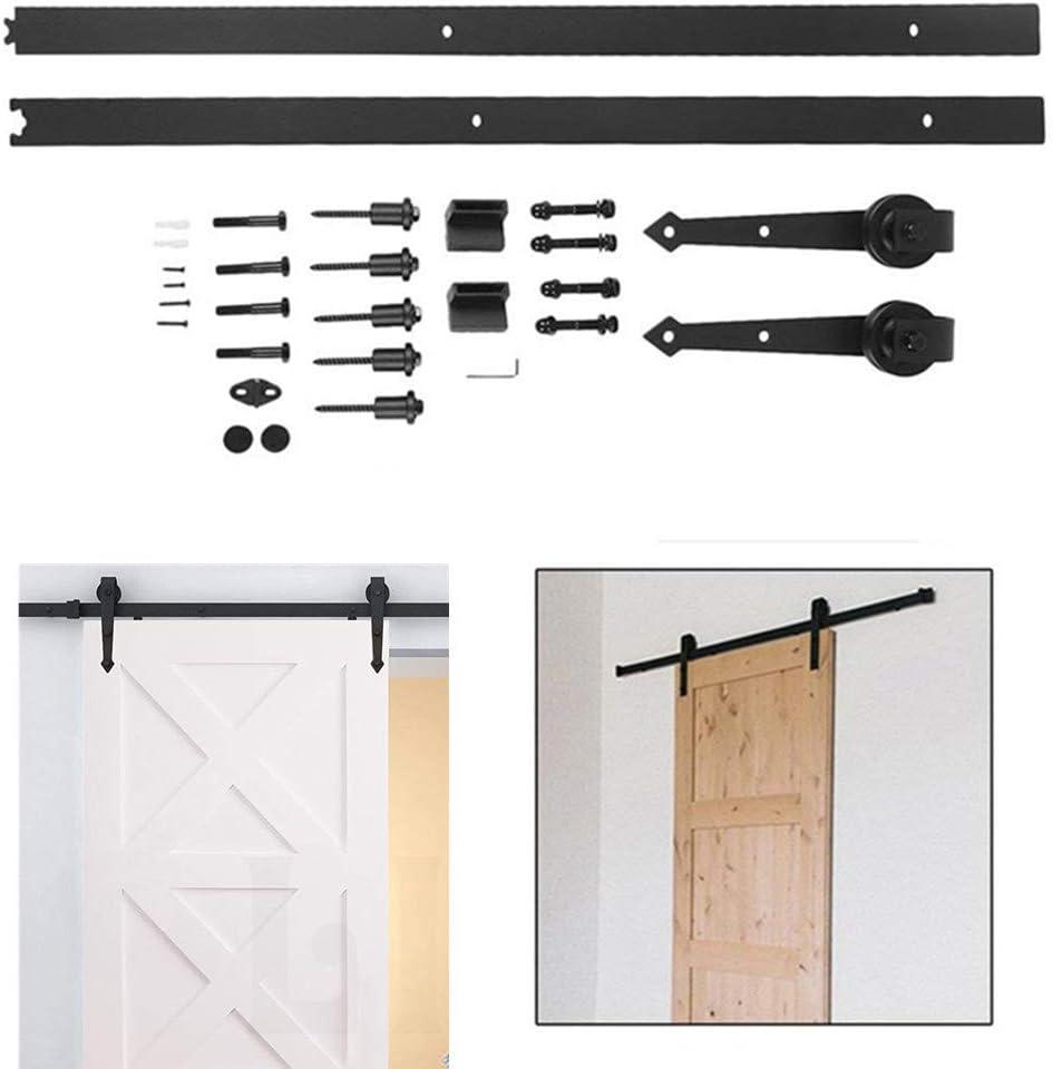 blackpoolal 6 ft Puerta Corredera Sistema accesorios notebook unidad Carril – Herraje para puerta corredera de ...