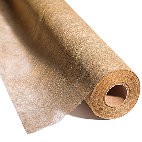 Metallic Gold Gossamer, 19 Inches Wide x 100 Yards Long by TCDesignerProducts (Image #3)