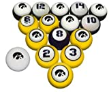 IOWA HAWKEYES NCAA Collegiate Billiards Pool Balls Sets College HAWK EYES