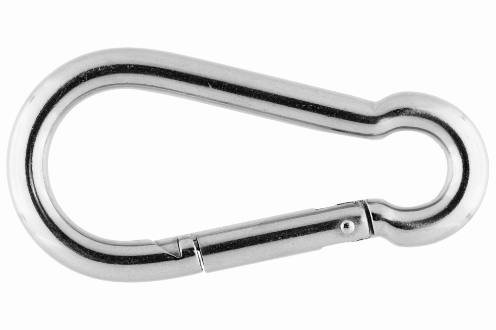 5mm x 50mm 316 STAINLESS STEEL SPRING SNAP HOOK Marinetech