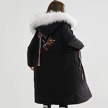 GUXIU Chaqueta de Plumas de Ganso de Invierno Cuello de Piel para Mujer Abrigo Largo para Mujer Parka Oversized Womens Down Jacket: Amazon.es: Deportes y ...