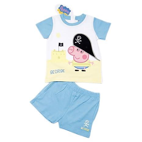Peppa – George pijamas para joven Talla:18 Monate