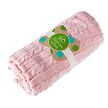 Pink Everyday Cable Knit Baby Blanket