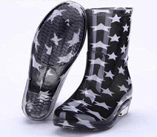 lluvia stars femenino botas black de impermeable BxqywUYtFp