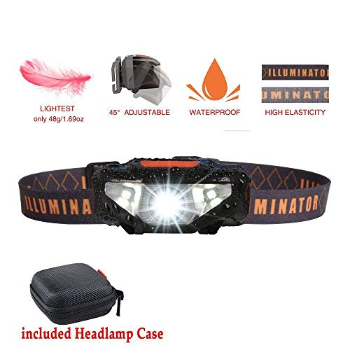 - LED Headlamp Flashlight with Carrying Case,COSOOS Head Lamp,Waterproof Running Headlamp, Bright Headlight for Adults,Kids,Camping,Night Jogging,Reading,Dog Walking,Runner,Only 1.6oz/48g(NO AA Battery)