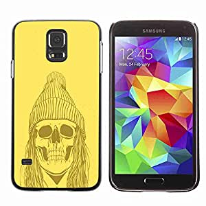 Planetar® ( Yellow Punk Hippie Skull ) Fundas Cover Cubre Hard Case Cover Samsung Galaxy S5 V SM-G900