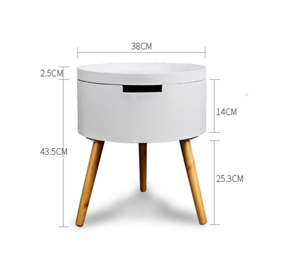 サイドテーブル 木脚 円形 丸 ラウンドテーブル 木製 円形 丸型サイドテーブル S/L/2個SET ナイトテーブル リビングテーブル ローテーブル 机 サブテーブル 木製テーブル 円形 テーブル ホワイト レッド グレー 天然木 2個セット リビングテーブル ナイトテーブル ローテーブル 机 2個セット 全3色 B01NAK2ZRD 収納でき|ホワイト ホワイト 収納でき