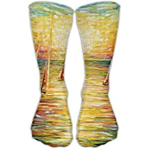 Sunset At Sea Women & Men Socks Knee High Long Soccer Sport Tube Stockings Length 30cm