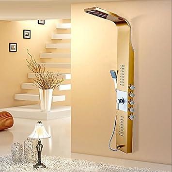 ZYJYSmart termostato ducha acero inoxidable aspersor traje ...