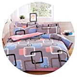 Heart to hear-pillowcase-and-sheet-sets Cotton Set Reactive Printing Comforter Bed Set Queen Full Size 4 pcs,AS24,Queen