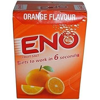 Eno Fruit Salt Antacid Powder - ORANGE Flavor - 1 Carton (30 Sachets)- 5 g Each