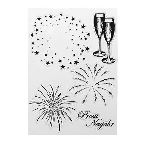 Misright Fireworks Cutting Dies Stencil DIY Scrapbooking Embossing Paper Home Decor ()
