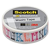 Scotch(R) All-Weather Fasteners, 2 Sets of 1 Inch x 3 Inches, Strips, Clear (RFD7090), 4-PACK