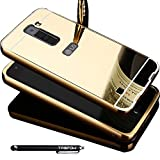 LG K7 Case, TabPow Mirror Case Series - Electroplate Bumper Bling Luxury Slim Hard Back Case Cover For LG K7, Gold