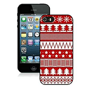 Iphone 5S Case, Christmas Tree and Starry sky Iphone 5s Case - Black Frame Ultra Fit Hard Case Shock-Absorption Bumper with Anti-Scratch Hard Case for iPhone 5/5S