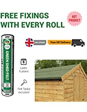 Premium Green Mineral Shed Roofing Felt 8m x 1m roll