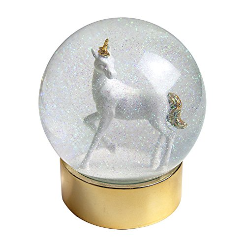 Talking Tables Christmas Snow Globe Unicorn Snowglobe on Glitter Base by Talking Tables