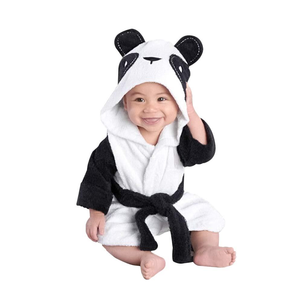 Yilaku Baby Dressing Gown Soft Fluffy Fleece Bathrobes Animal Pajamas Sleepwear Bath Wrap