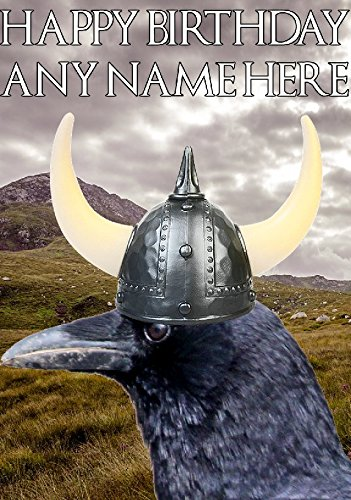 Raven hs254 Viking Warrior Divertida Tarjeta de felicitación de ...