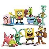 SpongeBob SquarePants Patrick Sandy Gary Sheldon 8PCS Action Figure Toy Kid Gift