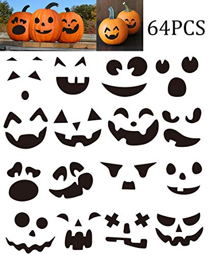 Make Your Own Jack-O-Lantern - Halloween Pumpkin Stickers Craft Decorations Trick or Treat Party Supplies 64Ct (Best Jack O Lanterns)