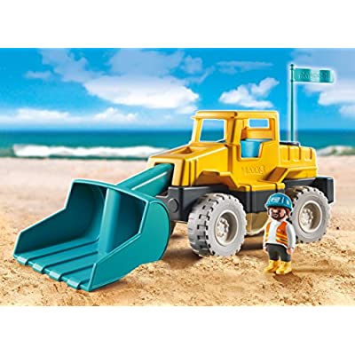 PLAYMOBIL Excavator Building Set: Toys & Games