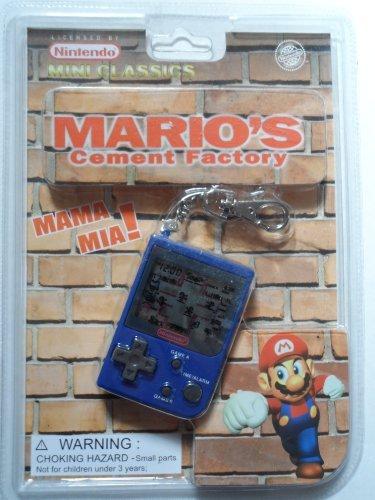 1998 Nintendo Mini Classics: Mario's Cement Factory / Hand-Held Game W/Attached Keychain - Mini Watch Keychain