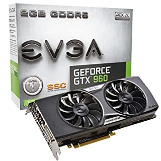 EVGA GeForce GTX 960 2GB SSC GAMING ACX 2.0+, Whisper Silent Cooling Graphics Card 02G-P4-2966-KR (B00SC6HAS4) | Amazon Products