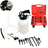 8milelake 6 Liter Pneumatic ATF Oil and Liquid Extractor with 14 pcs ATF Adapters / Refill System...