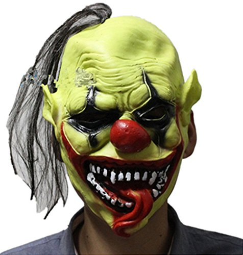 ADIASEN 1pc Halloween soft latex horror grudge ghost mask cosplay cos clown for adult big boy (Grudge Costume Dress)