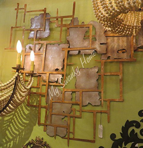 Modern Abstract Squares Gold Silver Wall Art | Contemporary Metal