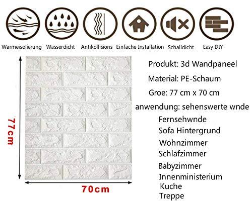 En PVC R/ésistant /à leau 77 cm x 70 cm Papier peint autocollant 3D effet pierre