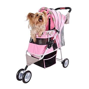 YE Carros para Mascotas, con Soporte para Carga de 10 kg para Perros pequeños (no Incluye Perros) (Color : Pink): Amazon.es: Productos para mascotas
