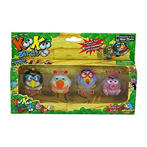Koo Koo Birds 4 Pack (Sapsucker, Who-Zee-What, Long-Tailed KooKoo, and Doofusina)