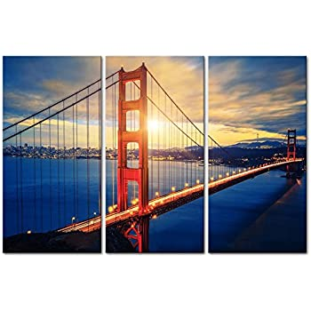 Amazon.com: 3 Pieces Modern Canvas Painting Wall Art The