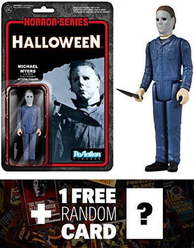 Michael Myers: Funko x Super 7 x Halloween ReAction Series + 1 FREE Classic Horror Movies Trading Card Bundle [41335] by nknown
