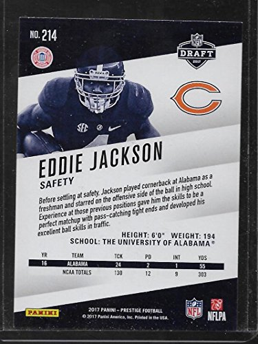 Amazon.com  2017 Prestige  214 Eddie Jackson Rookies NM-MT RC Rookie Bears   Collectibles   Fine Art a6d91e840