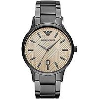 Emporio Armani Men's 'Dress' Quartz Stainless Steel Casual Watch, Color:Grey (Model: AR11120)